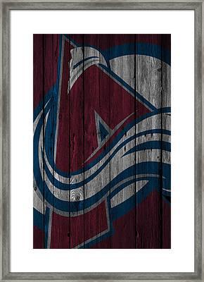 Colorado Avalanche Wood Fence Framed Print by Joe Hamilton