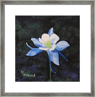 Colorado Blue Framed Print by Mary Arneson