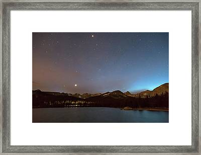 Framed Print featuring the photograph Colorado Brainard Lake Galaxy Night by James BO Insogna
