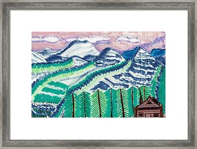 Colorado Cabin Framed Print