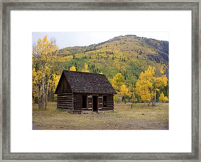 Colorado Cabin Framed Print by Marty Koch