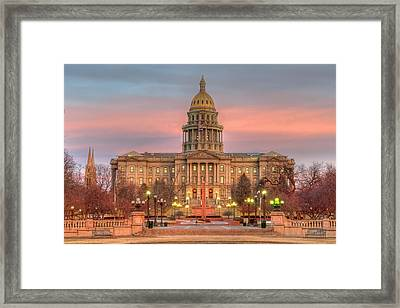 Colorado Capital Framed Print
