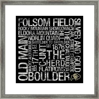 Colorado College Colors Subway Art Framed Print by Replay Photos
