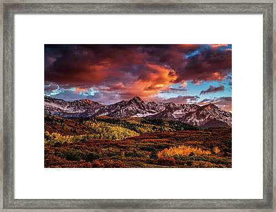 Colorado Color Framed Print by Andrew Soundarajan