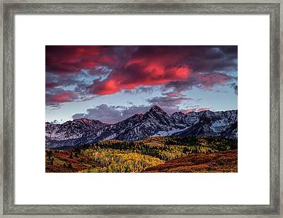 Colorado Colors Framed Print by Andrew Soundarajan