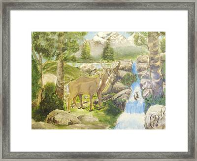 Colorado Couple Framed Print by Roger Rambo