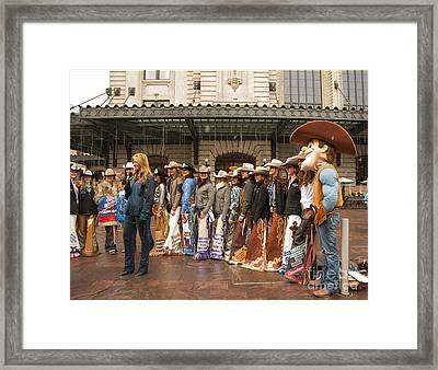 Colorado Cowgirl Beauties Framed Print
