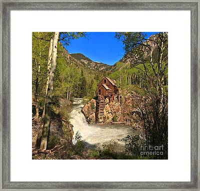 Colorado Crystal Mill Framed Print by Adam Jewell