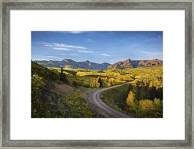 Colorado Curves Framed Print by Jon Glaser