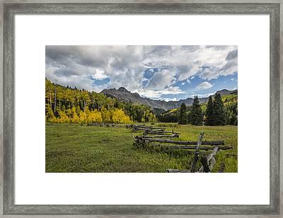 Colorado Fall Time Framed Print by Jon Glaser