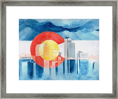 Colorado Flag Framed Print