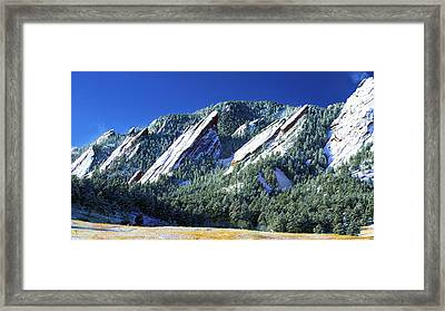 All Fivecolorado Flatirons Framed Print by Marilyn Hunt