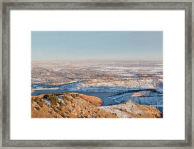 Colorado Front Range And Plains Framed Print