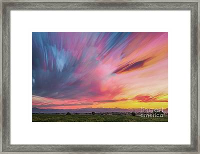 Colorado Front Range Crazy Sunset Timed Stack Framed Print by James BO Insogna