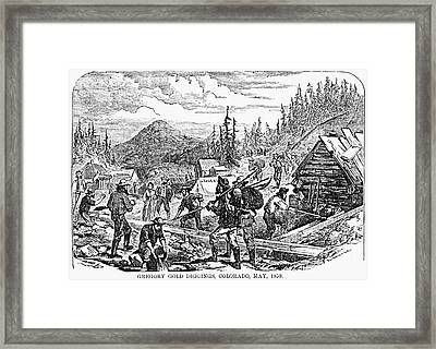 Colorado: Gold Mining, 1859 Framed Print by Granger