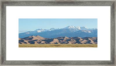 Colorado Great Sand Dunes Panorama Pt 1 Framed Print by James BO Insogna