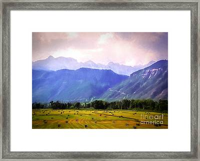 Colorado Harvest Watercolor  Framed Print