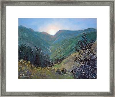 Colorado Highway Framed Print by Linda Preece
