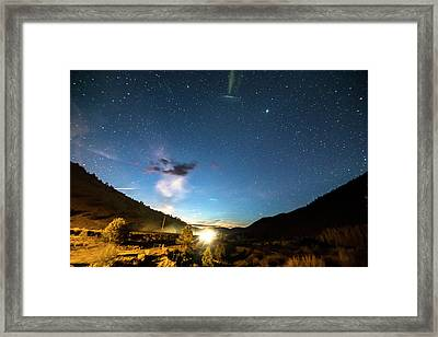 Colorado Incoming Ufo Landing Framed Print by James BO Insogna
