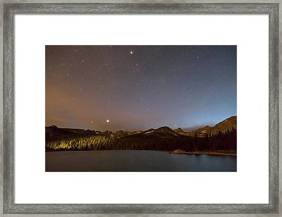 Framed Print featuring the photograph Colorado Indian Peaks Stellar Night by James BO Insogna