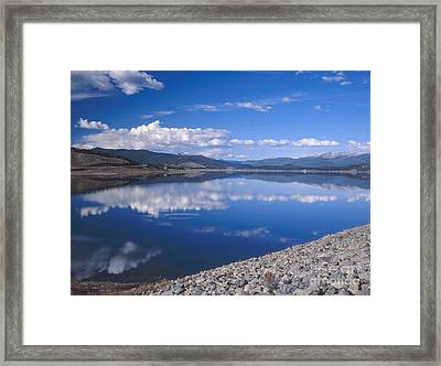 Colorado Lake Reflection Framed Print