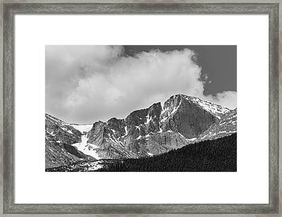 Colorado Longs Peak West Face In Monochrome Framed Print by James BO Insogna