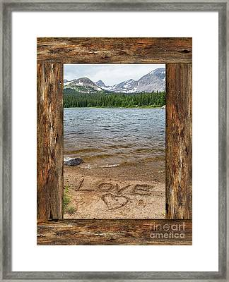 Colorado Love Window  Framed Print