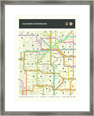 Colorado Map Framed Print