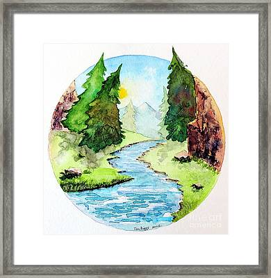 Colorado Marathon Logo Framed Print