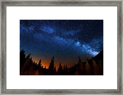 Colorado Milky Way Framed Print by Mark Andrew Thomas
