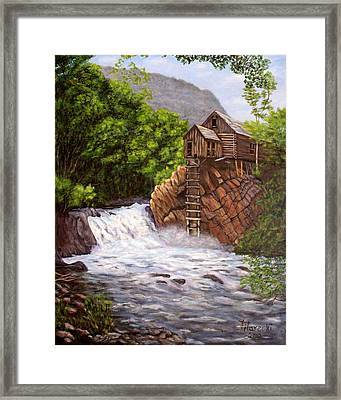 Colorado Mill Framed Print by Judy Filarecki
