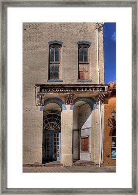 Belvidere Theatre Framed Print