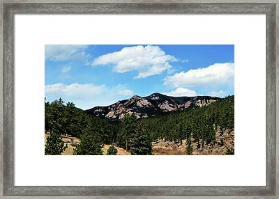 Colorado Mountains Framed Print by Angelina Vick