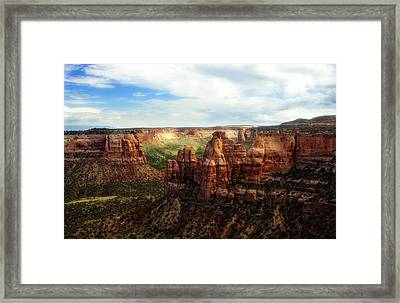 Colorado National Monument Framed Print by Marilyn Hunt