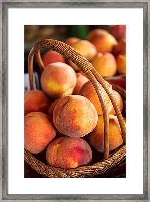 Colorado Peaches In Basket Framed Print