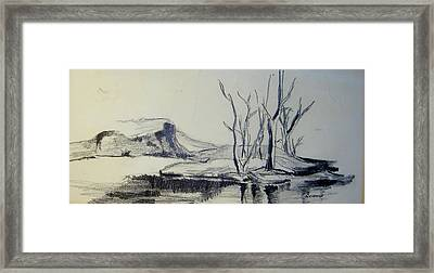 Colorado Pencil Sketch Framed Print