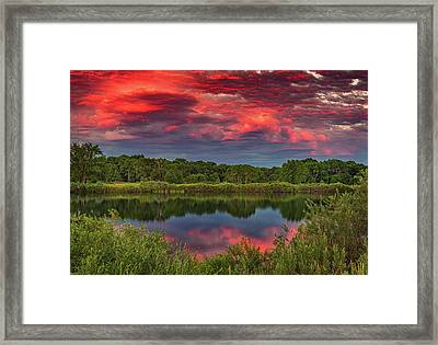 Colorado Ponds Sunset Framed Print by Darren White