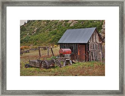 Framed Print featuring the photograph Colorado Ranch by Charles Warren
