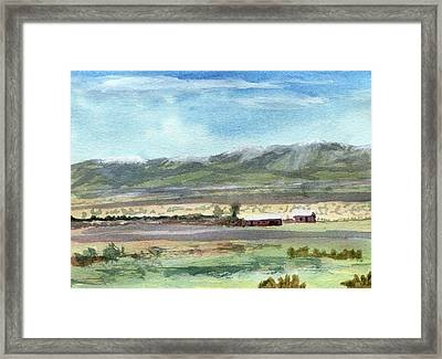 Colorado Ranch In North Park Framed Print by R Kyllo