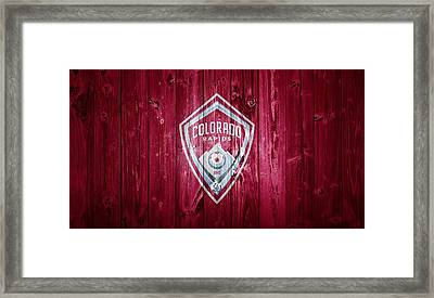 Colorado Rapids Barn Door Framed Print