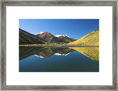 Framed Print featuring the photograph Colorado Reflections by Steve Stuller