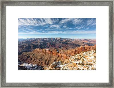 Colorado River And The Grand Canyon Framed Print by Clarence Holmes