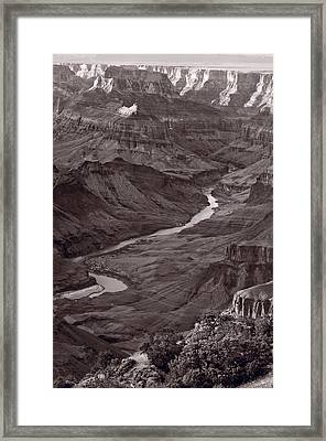 Colorado River At Desert View Grand Canyon Framed Print by Steve Gadomski