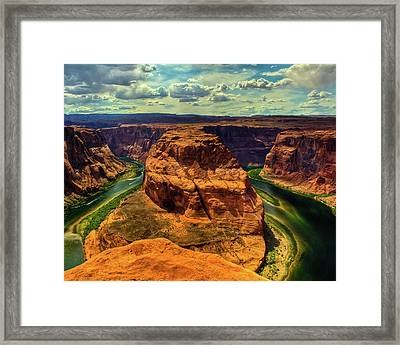 Colorado River At Horseshoe Bend Framed Print