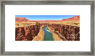 Colorado River Desert Landscape Framed Print by Adam Jewell