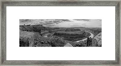 Colorado River Gooseneck Pano Framed Print