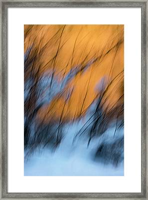 Colorado River Snow Banks Framed Print