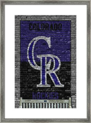Colorado Rockies Brick Wall Framed Print