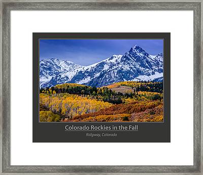 Colorado Rockies In The Fall - Ridgway Framed Print by Gary Whitton