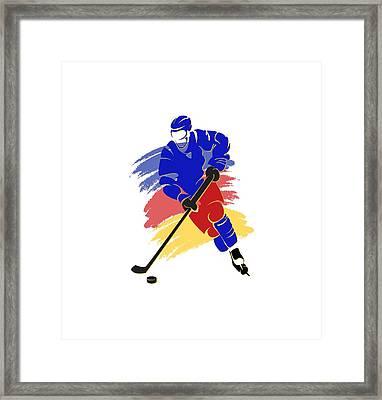 Colorado Rockies Player Shirt Framed Print by Joe Hamilton